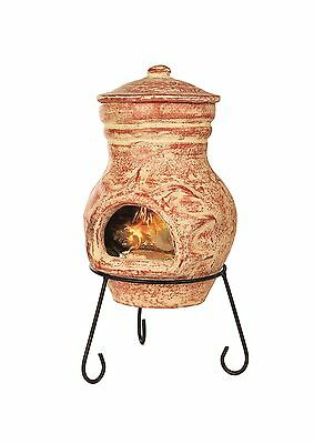 Outdoor Garden Chiminea Burner Terracotta