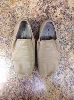 EUC ABT SPOTLIGHTS Tan Dance Hip Hop Flats Shoes Girls Size 13 jazz ballet shoes