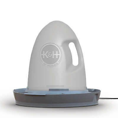 "K&H Pet Poultry Waterer Heated 2.5 gallon Gray 16"" x 16"" x 15"""