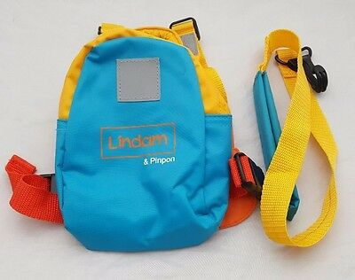 Lindam Pinpon Child's Backpack With Safety Harness And Detachable Rains