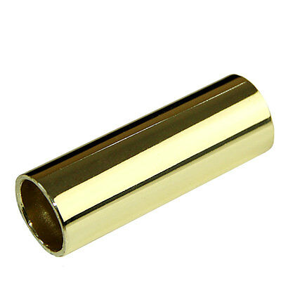 Metal Guitar Slider Finger Knuckle String Slides Cylinder Tube 70mm Golden