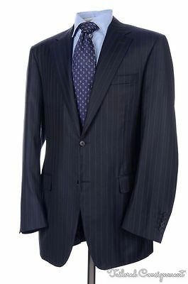 CANALI Recent Blue Striped 100% Wool Jacket Pants SUIT Mens - EU 52 / US 42 L