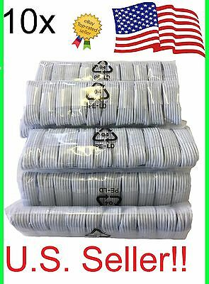 10x OEM Apple iPhone 7 Plus 6S 5 Lightning Charger Cable Charging Data Sync Cord