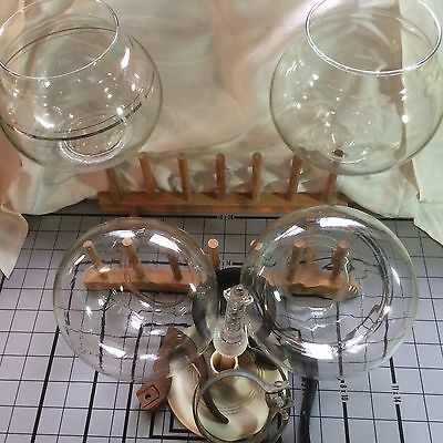 Lot of CORY COFFEE vacuum glass PARTS * 2 incomplete FOR PARTS or REPAIR vintage