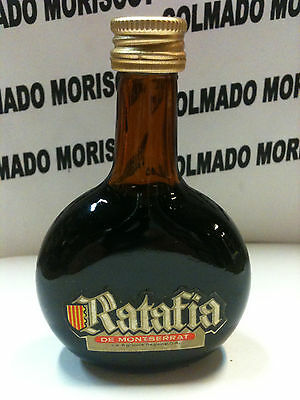 RATAFIA MONTSERRAT cl? %?  miniatura mignonette minibottle CATALONIA glass ANTIC