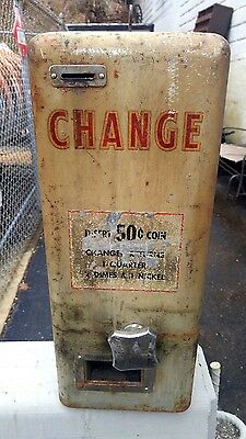 Vintage Car Wash Gas Station Coin Operated Working w/key Change Machine