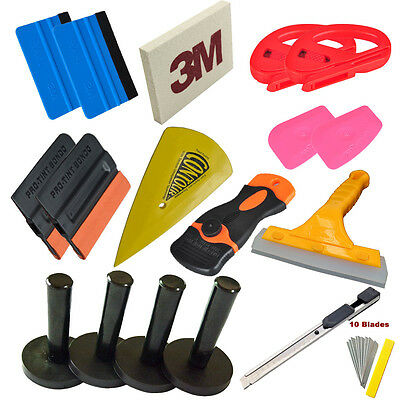 Economy Pro Car Vinyl Wrap Tint Tool kit Squeegee Magnet Cutter Application Tool