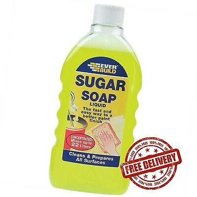Everbuild Sugar Soap Liquid Concentrate Removes Grease Grime and Nicotine Stains