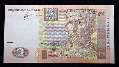 UKRAINE 2 HRYVNIA  FOREIGN PAPER MONEY BANKNOTE CURRENCY, Ukrainian Money
