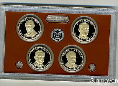 2014 S 4 Coin Presidential Deep Cameo Gem Proof Set NO box or COA