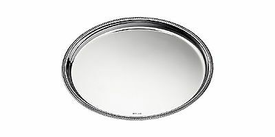50% off CHRISTOFLE SILVER PLATE MALMAISON ROUND TRAY RV$1250