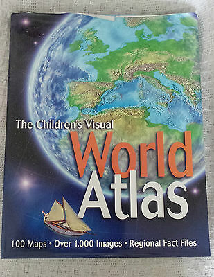 The Children's Visual World Atlas Very Large Hardback Book In Good Condition