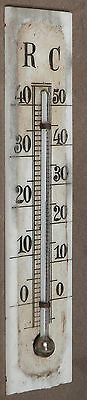 Antique Barometer HG Thermometer Milk Glass Index Scale RC Black Forest Swiss