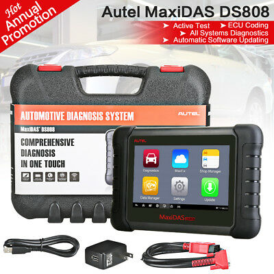 Autel MaxiDAS DS808 Smart Diagnostic Tool MS906 EPB ECU Adaptation Better DS708