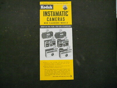 "Vintage Kodak Promotional Brochure for ""New Flashcube Model"" Instamatic Cameras"