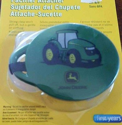 First Years John Deere Pacifier Attacher Clip BPA free 0m+- New!