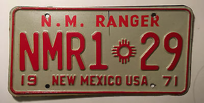 1971 New Mexico Ranger License Plate Police Trooper Highway Patrol Sheriff