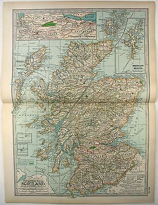 Original 1897 Map of Scotland by The Century Company