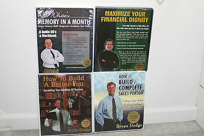 Lot of 4 Audio CD Sets Ron White Memory in a Month Bryan Dodge Build Better You