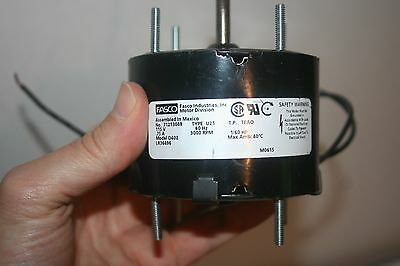 FASCO D402 HVAC Motor 1/60 HP 3000 RPM 115V 3.3