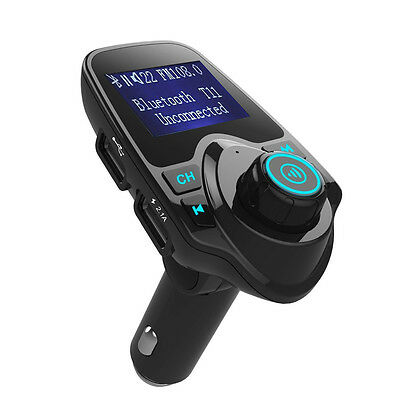 Bluetooth FM transmitter Dual USB Car Charger for iPhone iPod MMC MP3 Player US