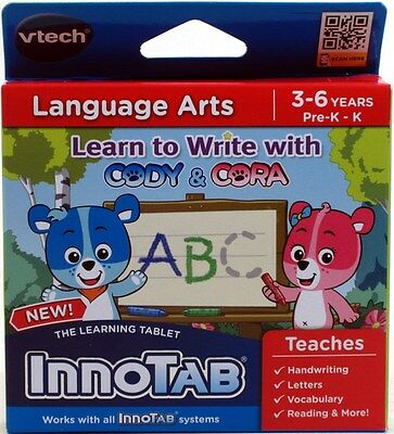 VTech InnoTab Learning System Software LEARN TO WRITE WITH CODY & CORA NEW NIP