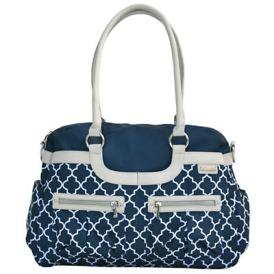 Satchel Nursery Bag Nappy/Diaper Handbag Shoulder Bag w/ Changing Pad/Mat Navy
