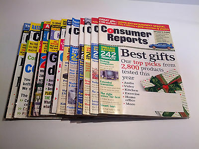 Consumer Reports Magazine 2003 12 issues Lot Set, Complete Full Year