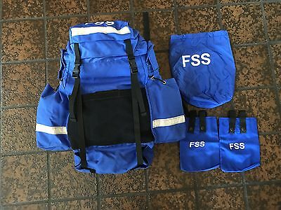 New Wildland Firefighting Msa Fss Gear Main Pack W/ Canteen Pouches