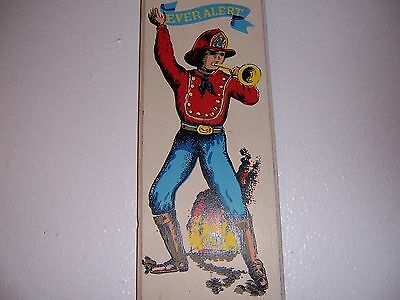 "VTG WOODEN ""EVER ALERT"" FIREMAN HOSE No.2 WALL PLAQUE"
