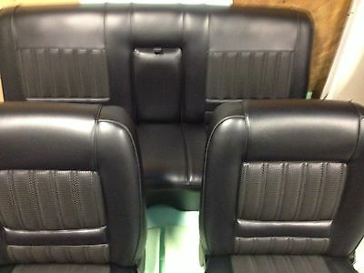 Ford Xy Gt Fairmont Seat Covers,full Set Black Robuk,basketweave,Aussie Made