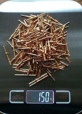 New, unused Gold Plated Connector Pins for use or scrap