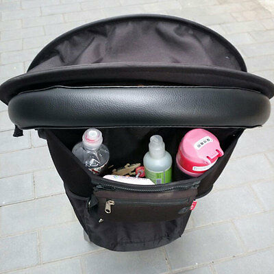 Baby Pram Pushchair Stroller Armrest Case Handle PU Leather Protective Cover