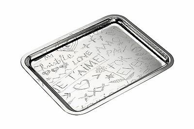 CHRISTOFLE SILVER PLATE GRAFFITI TRAY 20 x 16 CM 4200416