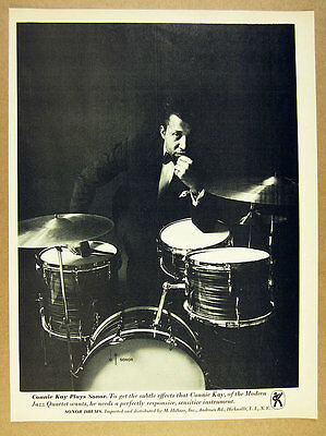 1966 Connie Kay of the Modern Jazz Quartet photo Sonor Drums vintage print Ad