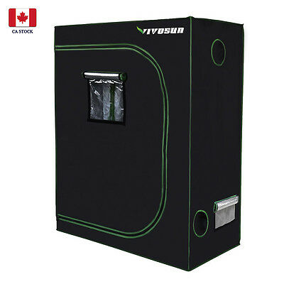VIVOSUN 4'x2' 600D Mylar Reflective Hydroponic Grow Tent Room for Indoor Growing