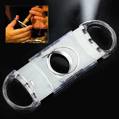 Double Blades Pocket Cigar Plastic Cutter Stainless Steel
