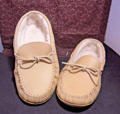 Cabela's Cabelas Tan moccasin slippers mens shoes  Fleece lined 12 M 1471 Canada