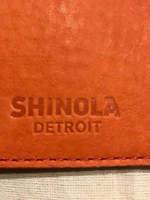 SHINOLA Large Leather Journal/iPad Air/Planner Cover Sleeve BOLD ORANGE $225 NEW