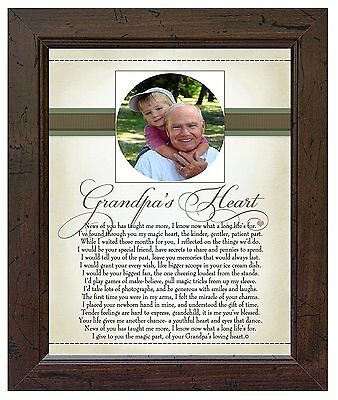 The Grandparent Gift Co. Heart Collection 8x10 Frame, Grandpas Heart