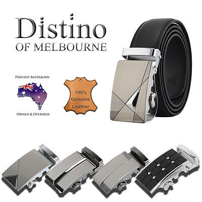 Genuine Leather Belt + Automatic Buckle | Men's leather belts for suits or jeans