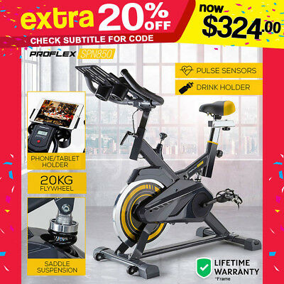 NEW PROFLEX Spin Exercise Bike - Flywheel Commercial Gym Home Fitness Equipment
