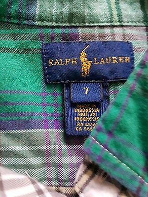 boys ralph lauren shirt age 7