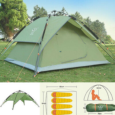 Waterproof Instant Pop Up  Canopy Beach UV Sun Shelter Camp Hiking 3-4 Man Tent