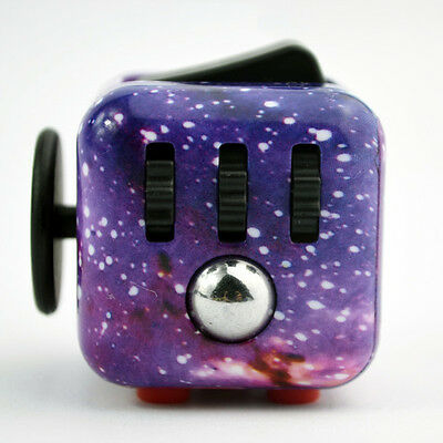Latest Styles Starry Sky Fidget Cube Toy Dice Anxiety Stress Attention Relief