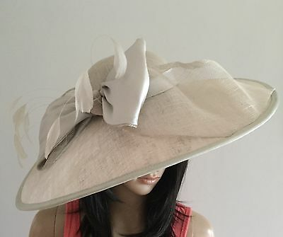 Nigel Rayment Couture Pale  Grey Wedding Hatinator Occasion Mother Of The Bride