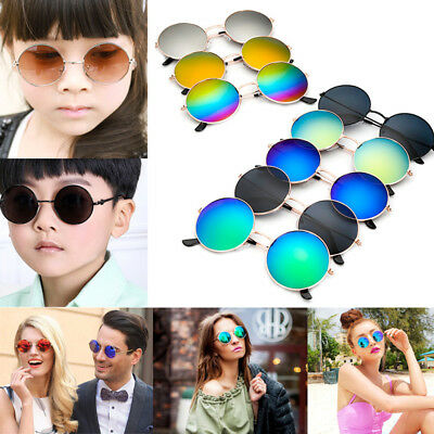 Retro Baby Girls Boy Kids Sunglasses Vintage Round Metal Glasses Eyewear Outdoor