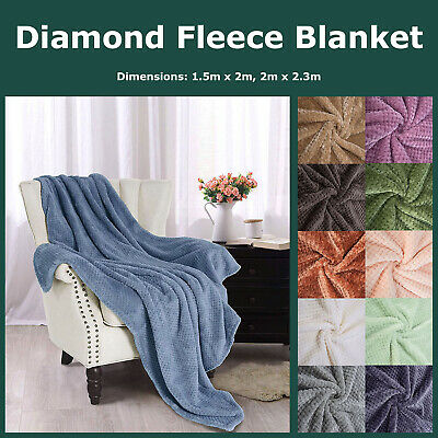 Fleece Printed Sherpa Throw Blanket Faux Lambswool Reversible Plush Micro Mink