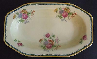 Lovely Vintage Woods Ivory Ware Biscuit Dish - Old Fashioned Rose Pattern