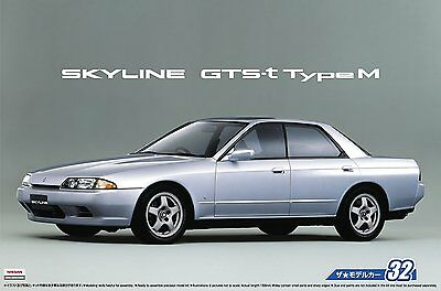Aoshima 53072 1/24 The Model Car 32 Nissan HCR32 SKYLINE GTS-T TYPE M '89